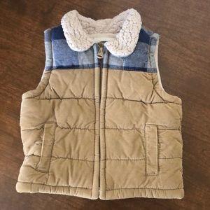 Old Navy Corduroy Fleece Vest Boys Size 6m - 12m